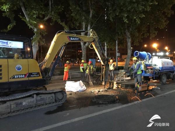济南历山路14日晚起整修 11月中旬竣工