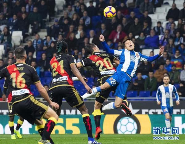 (体育)(17)足球——西甲:西班牙人胜巴列卡诺