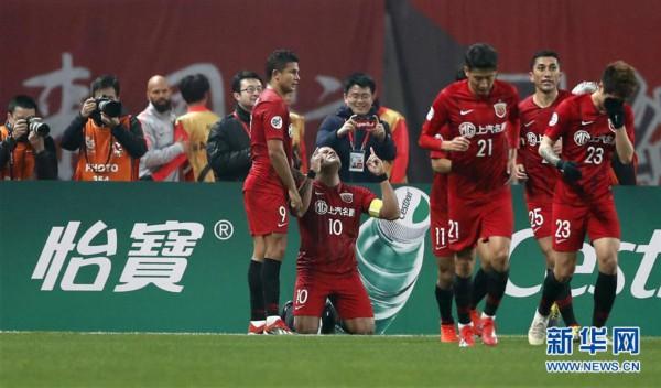 (体育)(14)足球——亚冠:上海上港胜川崎前锋