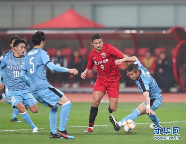 (体育)(8)足球——亚冠:上海上港胜川崎前锋