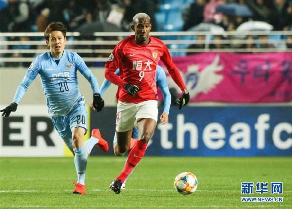 (体育)(2)足球——亚冠:广州恒大淘宝不敌大邱