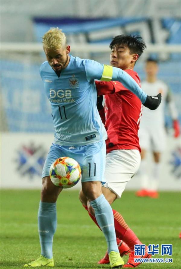 (体育)(3)足球——亚冠:广州恒大淘宝不敌大邱