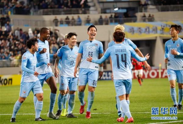 (体育)(5)足球——亚冠:广州恒大淘宝不敌大邱