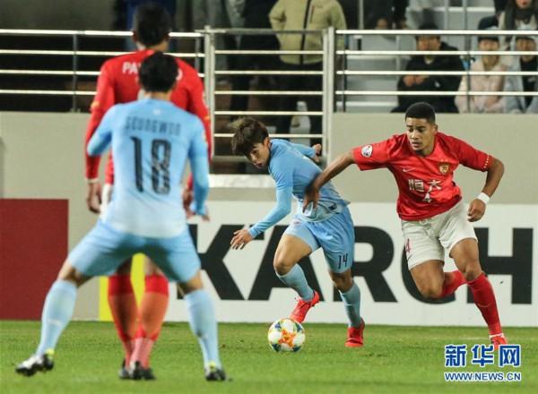 (体育)(6)足球——亚冠:广州恒大淘宝不敌大邱