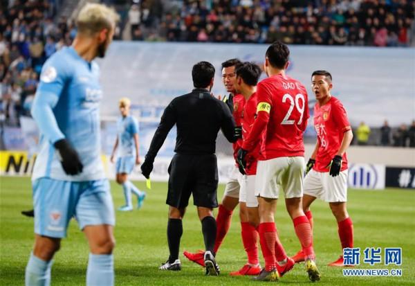 (体育)(7)足球——亚冠:广州恒大淘宝不敌大邱