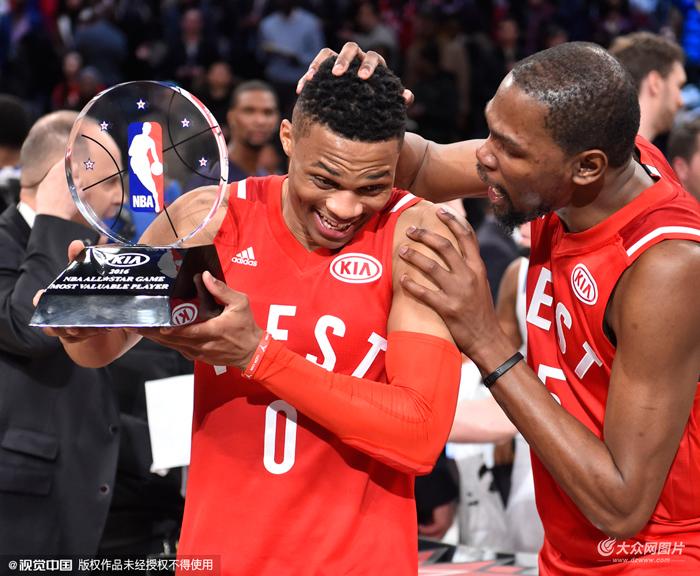 NBA全明星正赛:西部196-173东部 维斯布鲁克