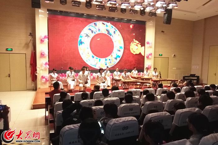 济南德润高中举行2018年元旦高中v高中亭口师生林老师图片